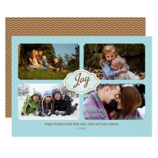 Vues de photo des vacances 4 de joie carton d'invitation  12,7 cm x 17,78 cm