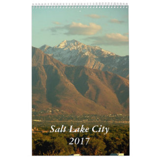 Vues de Salt Lake City 2017 Calendrier Mural