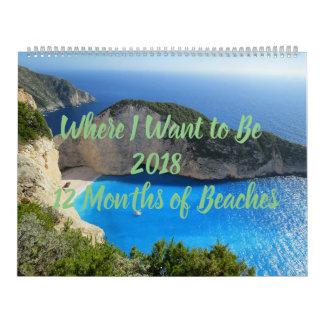 Waar ik 12-maanden van de Kalender van Stranden