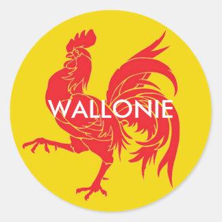 Wallonie Belgique Sticker Rond