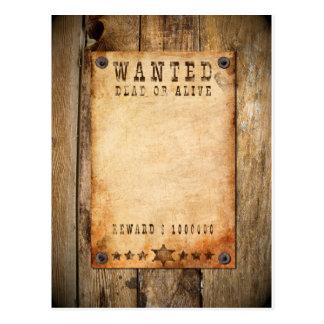 Wanted - 01 briefkaart