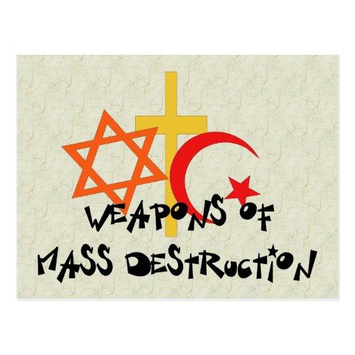 Wapens van de Vernietiging van de Massa Wenskaart
