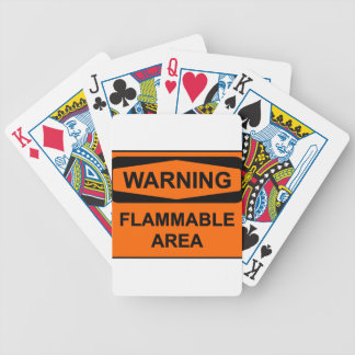 Warning flammable areawrning jeu de poker