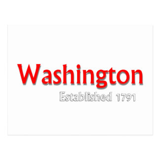 Washington a établi la carte postale