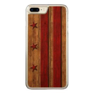 Washington D.C. Flag Distressed vintage Coque Carved Pour iPhone 7 Plus