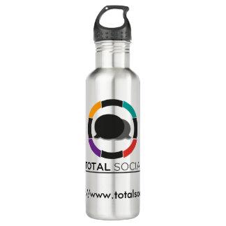 Waterbottle social total bouteille d'eau en acier inoxydable