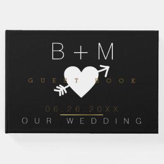 wedding_book, un livre d'invité moderne et noir