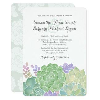 Wedding shower élégant de bouquet succulent carton d'invitation  12,7 cm x 17,78 cm