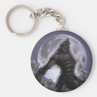 Weerwolf die bij de Maan huilen Sleutelhanger