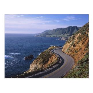 Weg 1 langs de Kust van Californië dichtbij Briefkaart