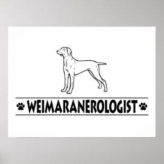 Weimaraner humoristique affiche