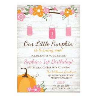 Weinig Eerste Verjaardag van het Meisje van de 12,7x17,8 Uitnodiging Kaart