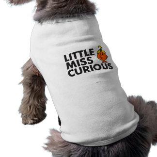 Weinig Misser Curious   het Zwarte Van letters T-shirt
