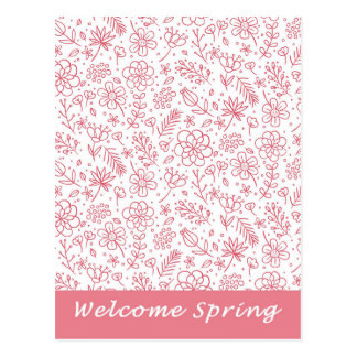 Welcome Spring Carte Postale