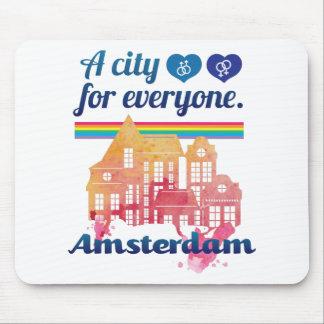 Wellcoda Amsterdam chacun droit de l'homme Tapis De Souris