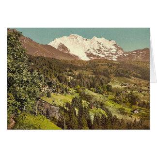 Wengen, pension Lauerner et Jungfrau, Bernese Obe Carte De Vœux