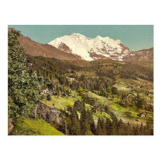 Wengen, pension Lauerner et Jungfrau, Bernese Obe Carte Postale
