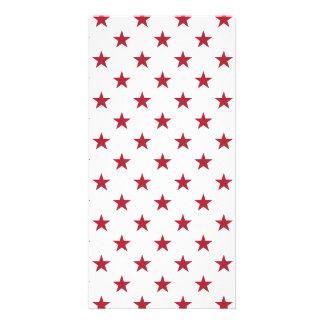 Werpen de Rode Sterren van de Vlag van de V.S. op Fotokaart Sjabloon