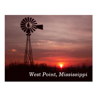 West Point, carte postale du Mississippi