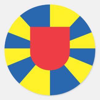 West- Vlaanderen, België Ronde Sticker