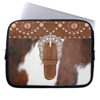 """Western Laptop van het """"koeienhuid"""" Sleeve"""