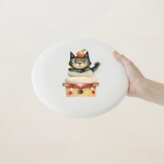 """Wham-O Frisbee Illustration d'aquarelle de chien de """"Mochi Shiba"""""""