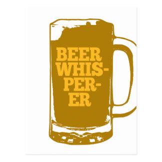 Whisperer de bière carte postale