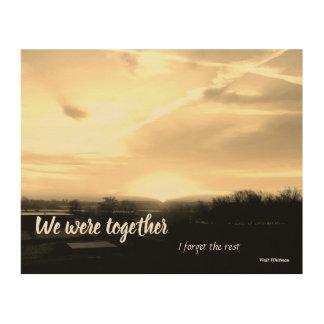 Wij waren samen… hout afdruk
