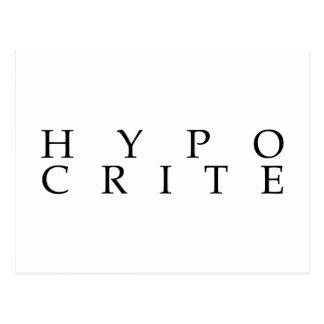Wij zijn alle hypocrieten briefkaart