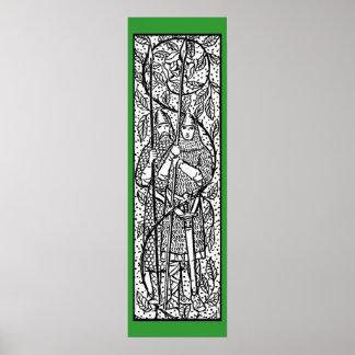 Wijnoogst - de Twee Middeleeuwse Ridders - Poster