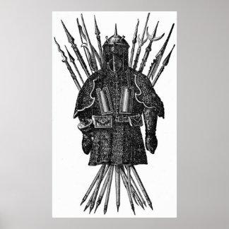 Wijnoogst - de Wapens van Pool van de Middeleeuwen Poster