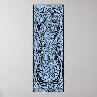 Wijnoogst - Ridder in een Middeleeuwse Boot - Poster