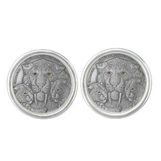 WILDE DINGEN: Zilveren Smiladon om Cufflinks Manchetknopen