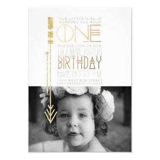 Wilde men Partij van de Verjaardag van | de Eerste 12,7x17,8 Uitnodiging Kaart
