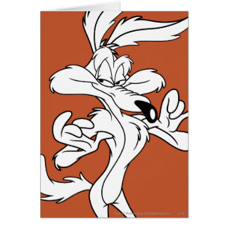 Wile E. Coyote Looking heureux Carte