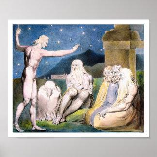 William Blake - colère d'Elihu [le travail] Poster