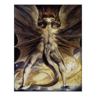 William Blake : Le grand dragon rouge