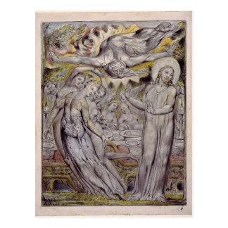 William le Blake-Christ refusant le banquet par Carte Postale
