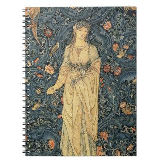 William Morris antique Flora Carnet
