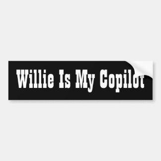 Willie est mon co-pilote autocollant de voiture