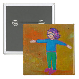Wind van de de kunst moderne abstracte kleurrijke  speldbutton