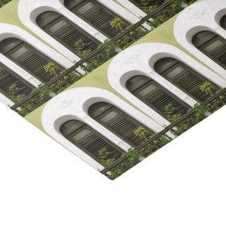 Windows vert de vieux San Juan, Porto Rico Papier Mousseline