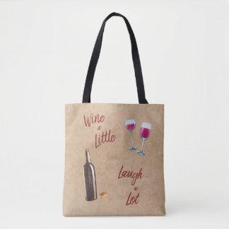 Wine un peu de sac fourre-tout à citation de rire