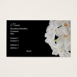 Wit BloemenVisitekaartje Visitekaartjes