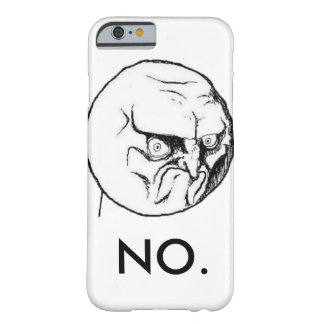 "Wit ""nr."" meme Grappig Barely There iPhone 6 Hoesje"