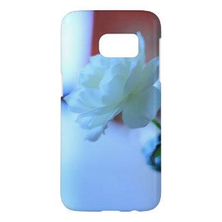 witte de telefoondekking van bloemSamsung galaxlys Samsung Galaxy S7 Hoesje