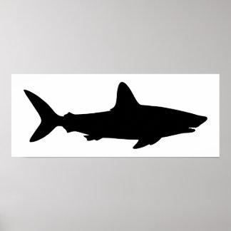 Witte en Zwarte Haai Poster
