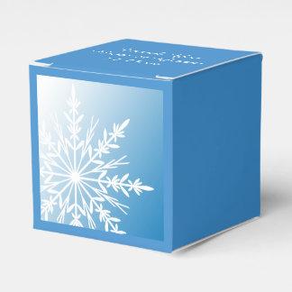 Witte Sneeuwvlok op het Blauwe Huwelijk van de Bedankdoosjes