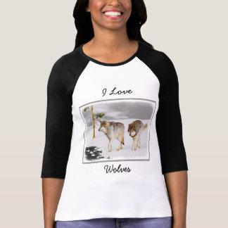 Wolven in Sneeuw T Shirt