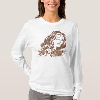 Wonder Bruine Vrouw T Shirt